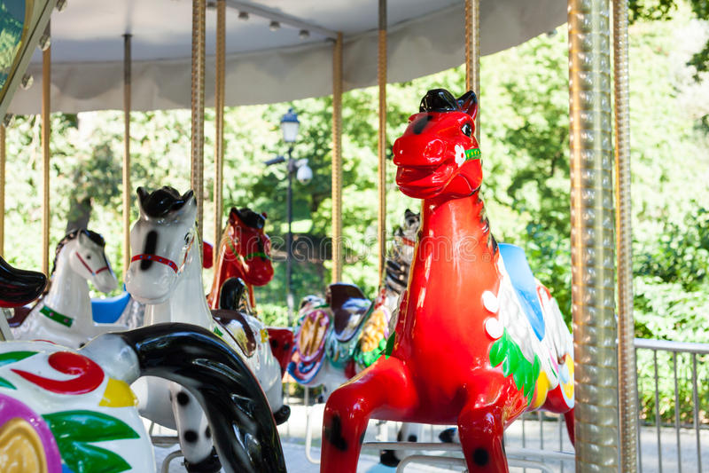 Karussell Horse stockfotos