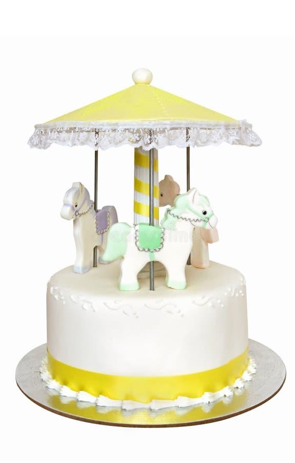 Karussell-Kuchen lizenzfreie stockfotos