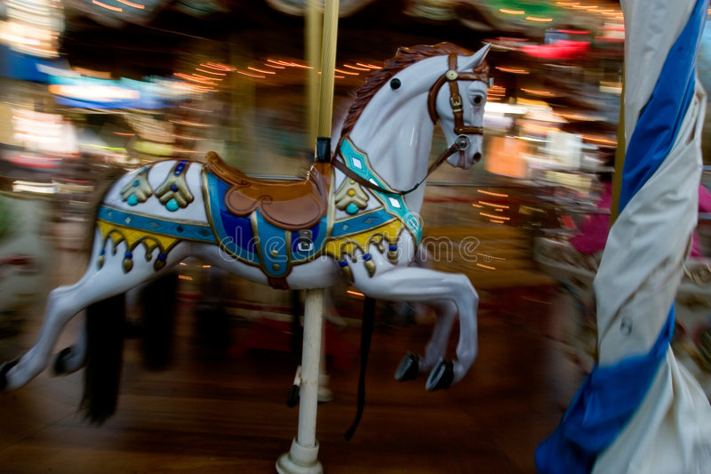 Karussell-Pferd lizenzfreie stockfotografie