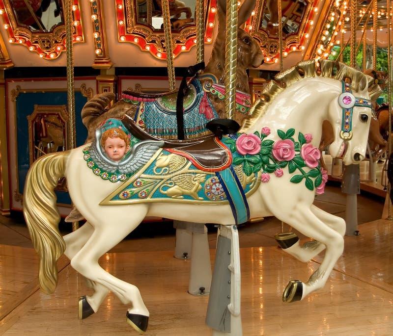 Karussell-Pferd stockbild