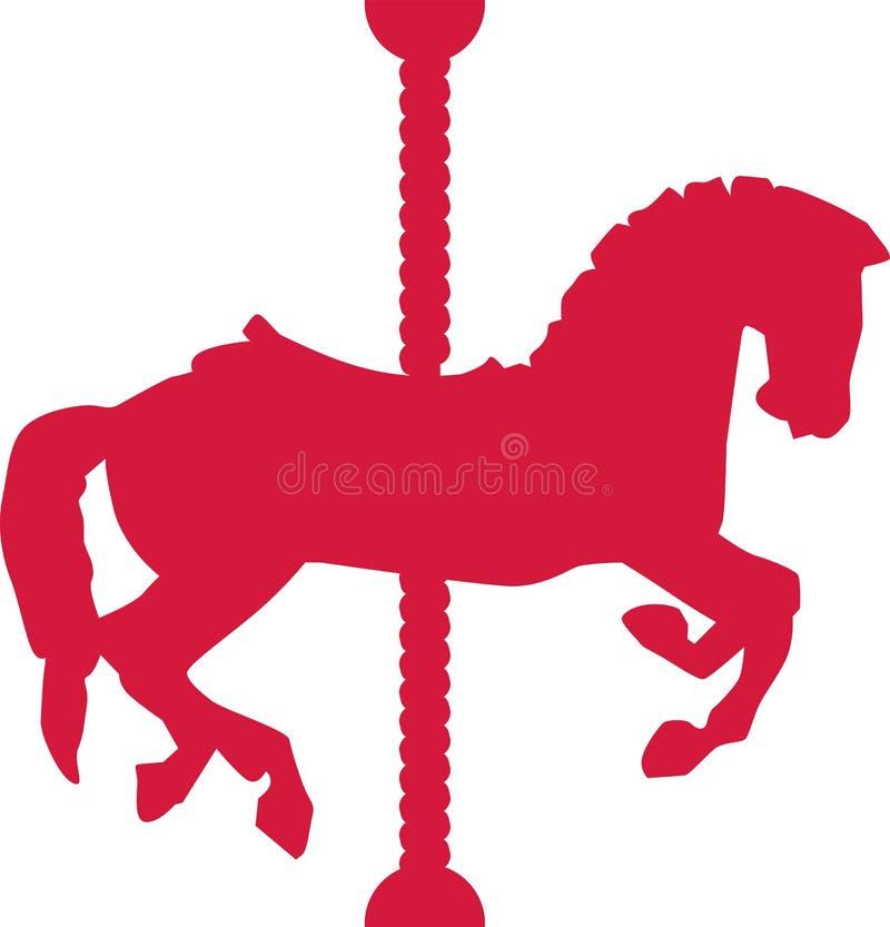Karussell-Pferdevektor vektor abbildung