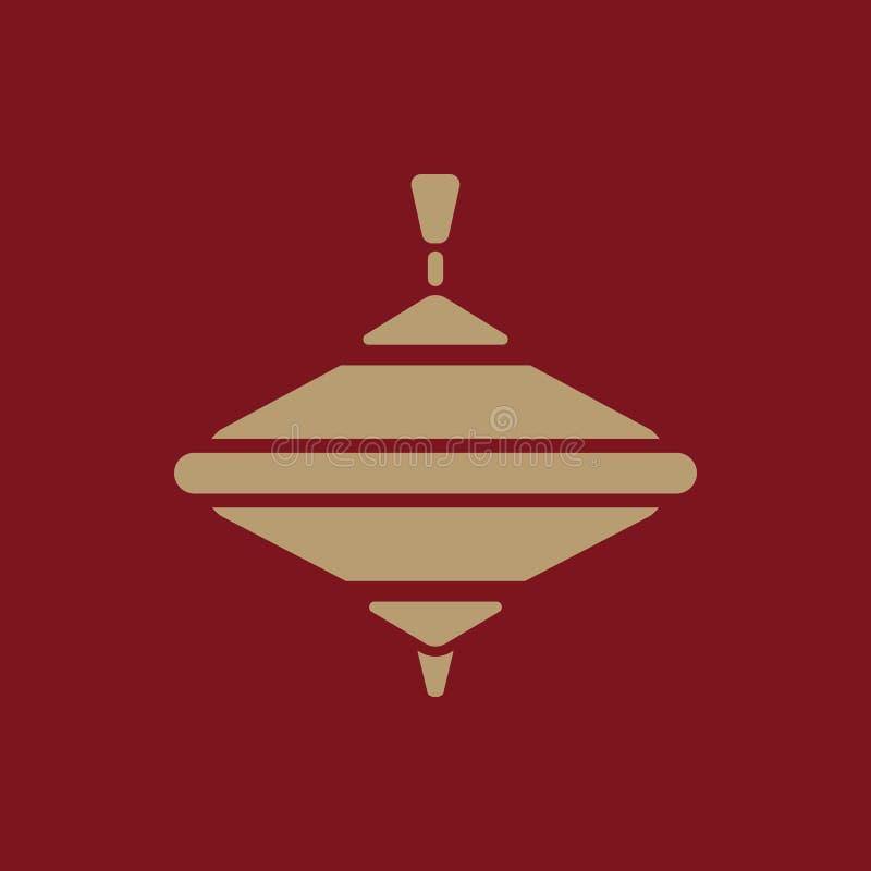 Karussellikone Whirlabout-Vektordesign Klammer-Spitze, Karussellsymbol web graphik jpg ai app zeichen nachricht flach stock abbildung