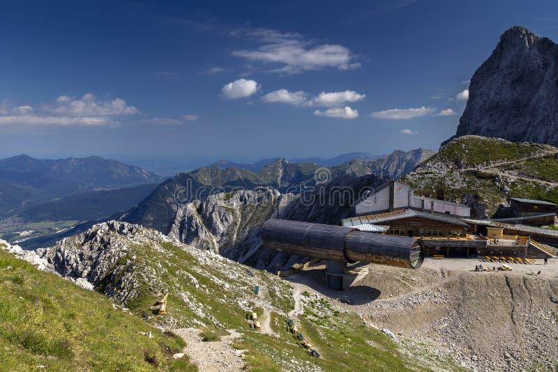Karwendel mountains Information Center royalty free stock photos