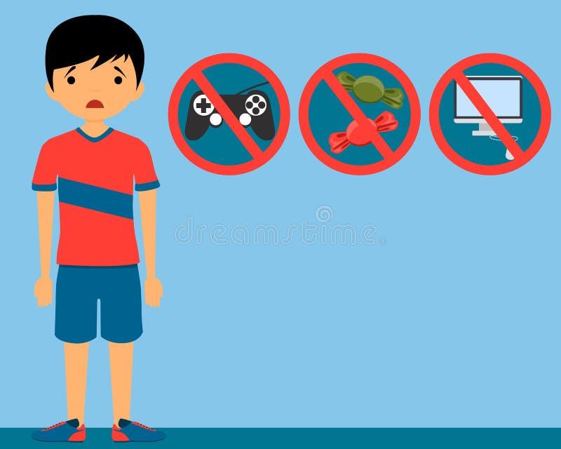 Kary dziecko ilustracji