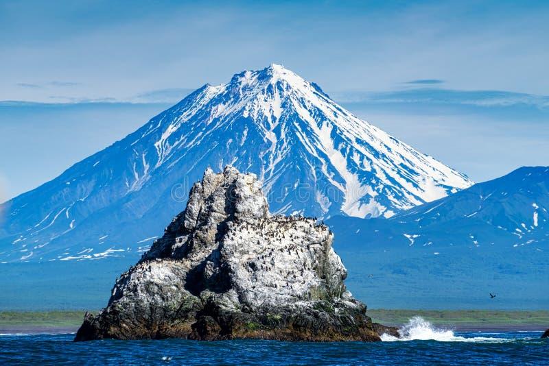 Karyakskiy vulkan royaltyfria foton