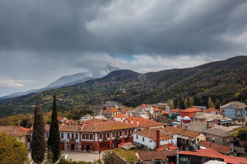 Karyes sur le mont Athos photos stock