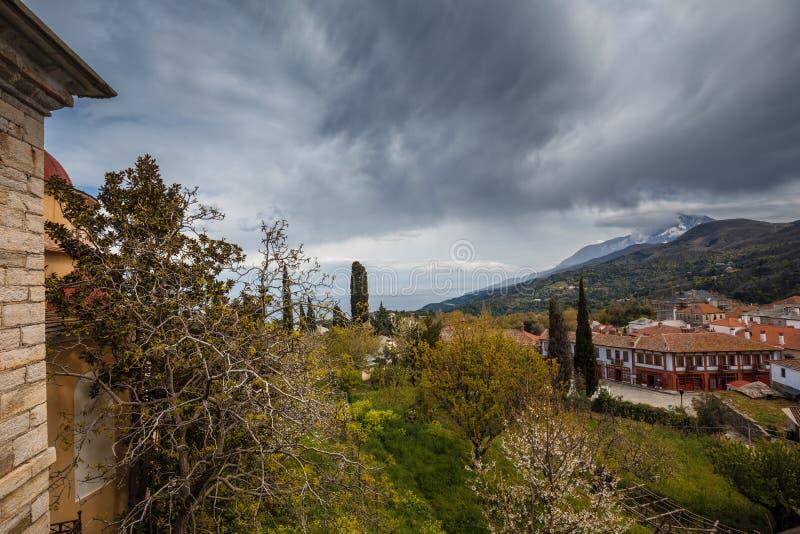 Karyes sur le mont Athos images stock