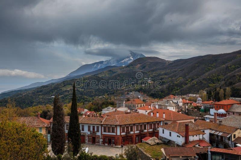 Karyes sur le mont Athos photo libre de droits