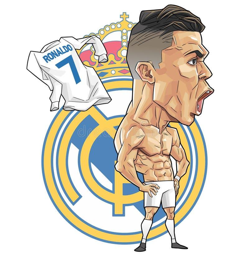 Karykatura Cristiano Ronaldo zdjęcia stock