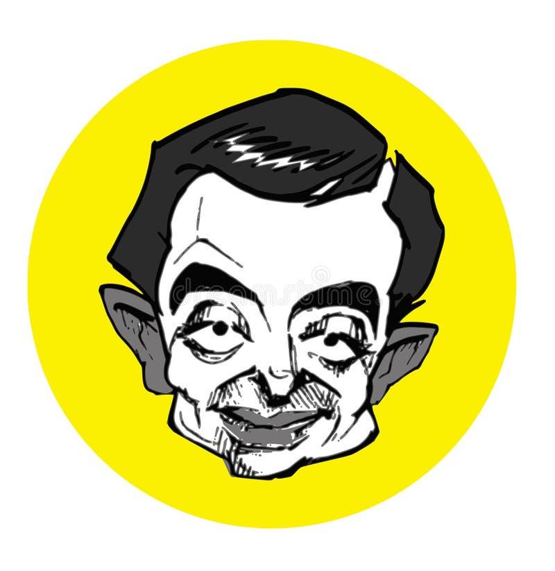karykatury bobowy mr Seria ilustracja wektor
