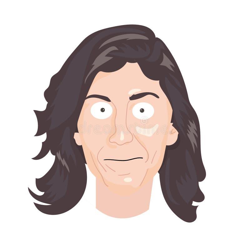 Karykatury rysunkowa ilustracja Charakteru portret Lisa strona royalty ilustracja