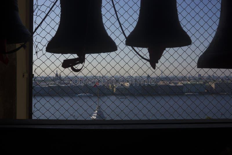 Karylion - dzwon z automatycznym machinalnym wibracja przyrządem zdjęcia stock