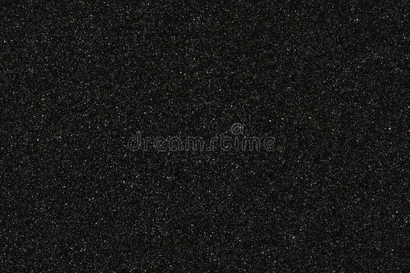 Karze grzywną groszkowatego wodoodpornego ściernego papieru tekstury czerni tło zdjęcia stock