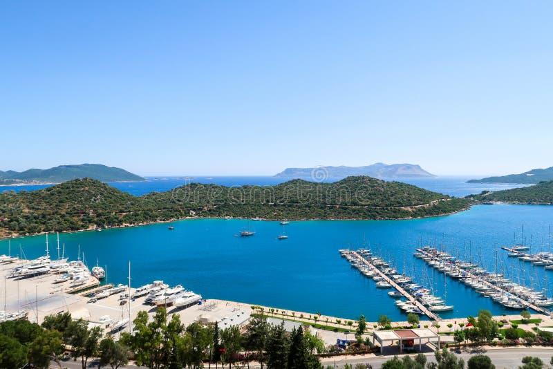 Kasa Marina niedalecy porty lub zatoki, Antalya, Turcja zdjęcia stock