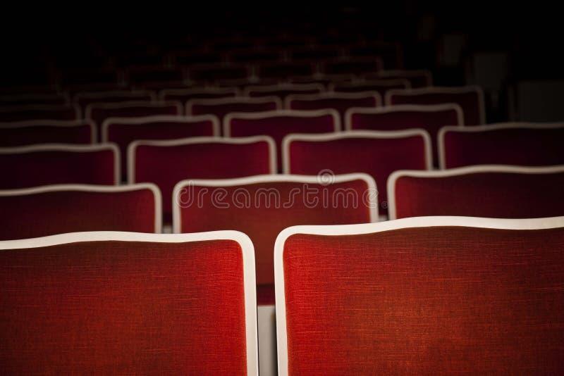 Kasa teatralna opróżnia theatre siedzenia obrazy stock