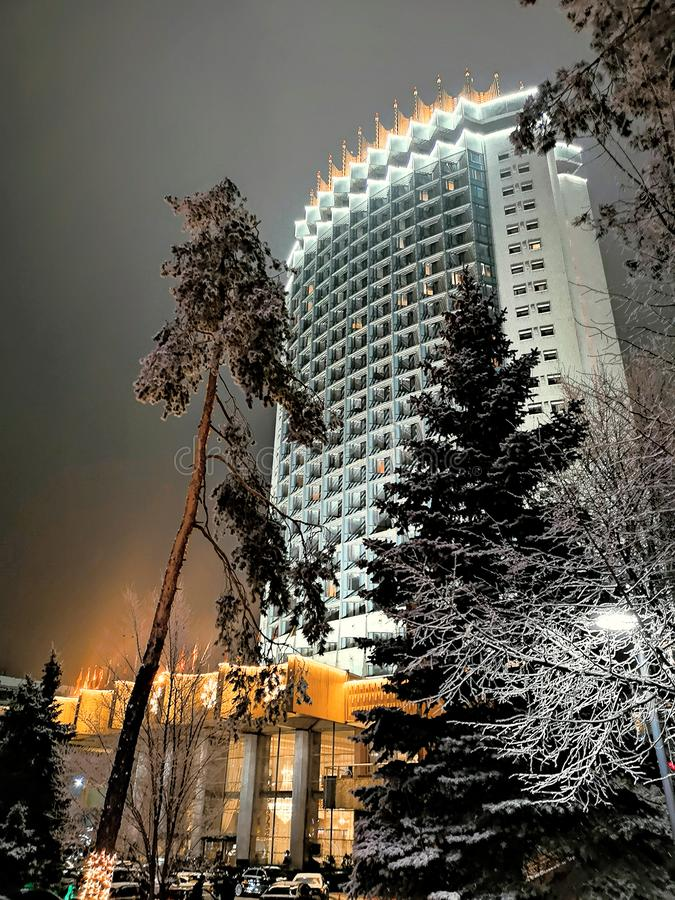 Kasachstan-Hotel in Almaty, Kasachstan stockfotos