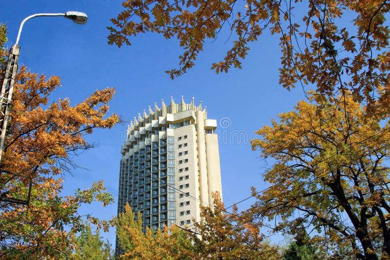 Kasachstan-Hotel in Almaty, Kasachstan lizenzfreies stockfoto