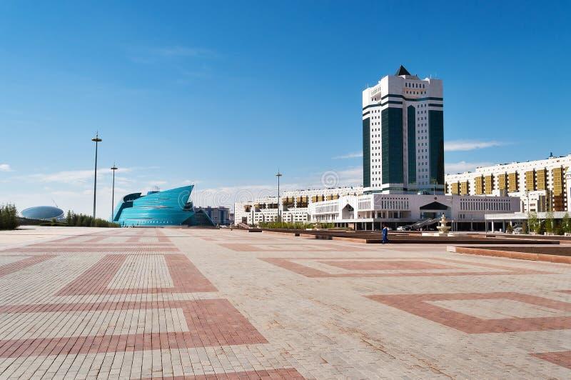 Kasakhstan central konserthall i Astana royaltyfria foton