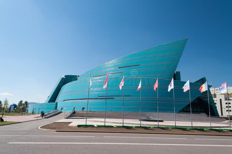 Kasakhstan central konserthall i Astana arkivbilder