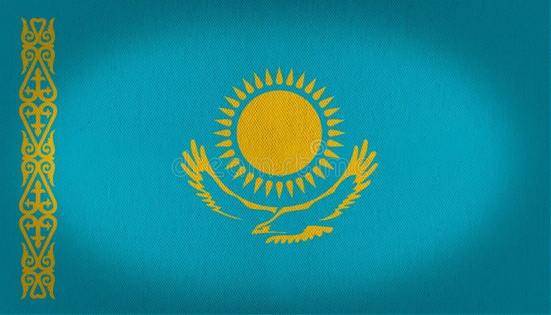 Kasakhstan flagga stock illustrationer