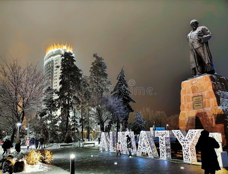 Kasakhstan hotell i Almaty, Kasakhstan royaltyfria foton