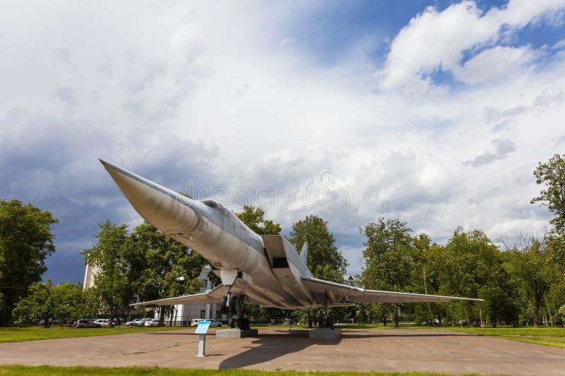 KASAN, RUSSLAND, AM 5. JUNI 2018: Das Flächemonument TU-22M3 stockfotos