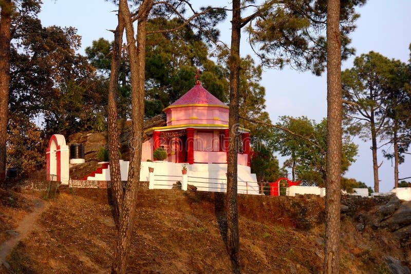 Kasar Devi Temple Almora, Indien royaltyfri bild