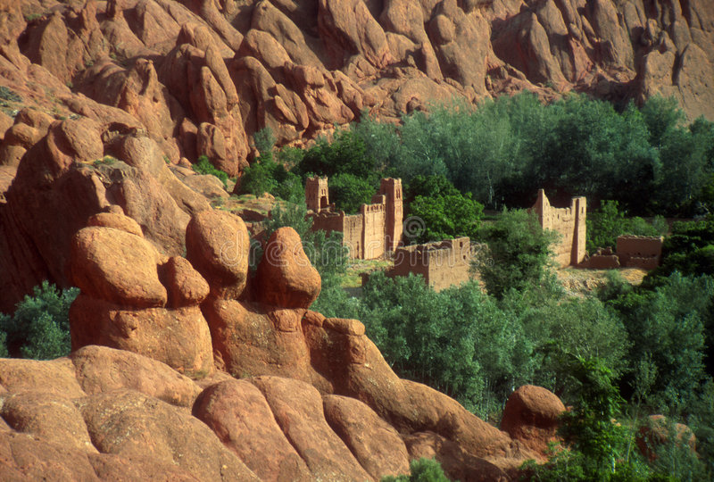 kasbah摩洛哥 库存照片
