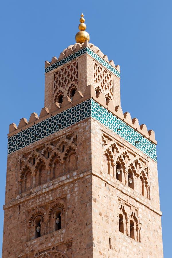 Kasbah清真寺在马拉喀什 马拉喀什,马拉喀什萨菲,摩洛哥 免版税库存照片