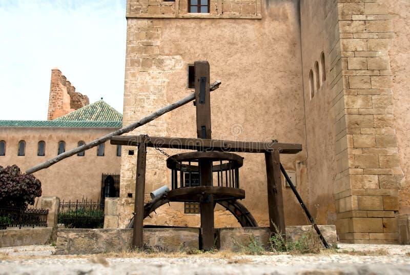 kasbah παλαιό oudaia καλά στοκ εικόνες