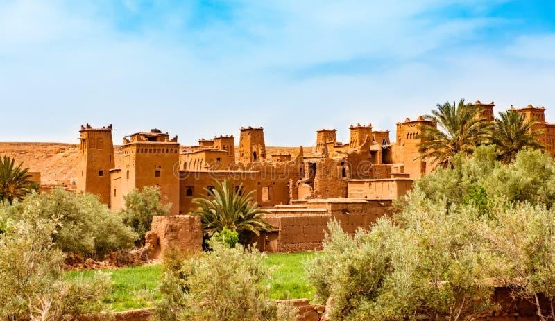 Kasbah Ait在瓦尔扎扎特摩洛哥附近的本Haddou 科教文组织世界遗产站点 免版税库存照片