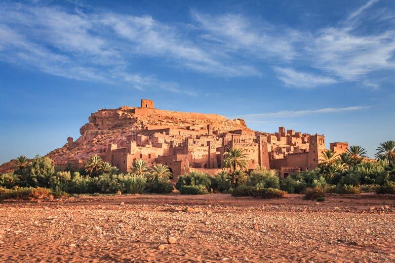 Kasbah Ait本Haddou在摩洛哥的阿特拉斯山脉 联合国科教文组织世界遗产名录 库存图片