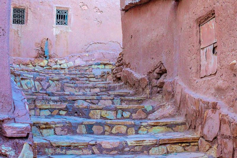 Kasbah Ait Ben Haddou in the Atlas Mountains of Morocco. UNESCO World Heritage Site since 1987. Several films have been shot there royalty free stock images