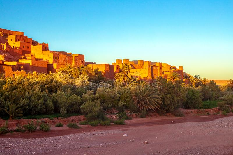 Kasbah Ait Ben Haddou in the Atlas Mountains of Morocco. UNESCO World Heritage Site since 1987. Several films have been shot there stock images