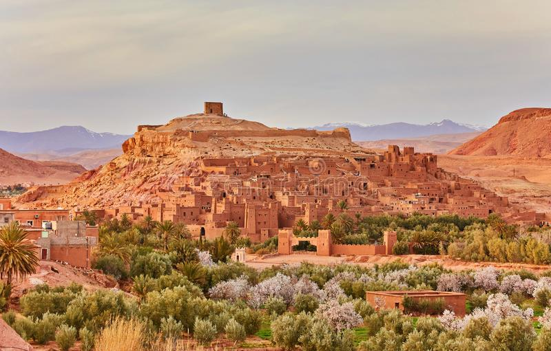 Kasbah Ait Ben Haddou in the Atlas Mountains of Morocco. UNESCO. World Heritage Site since 1987. Several films have been shot there royalty free stock image