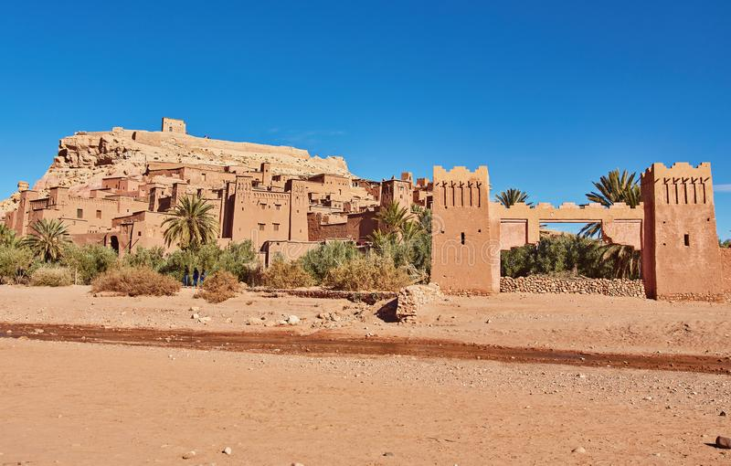Kasbah Ait Ben Haddou in the Atlas Mountains of Morocco. UNESCO. World Heritage Site since 1987. Several films have been shot there stock photo