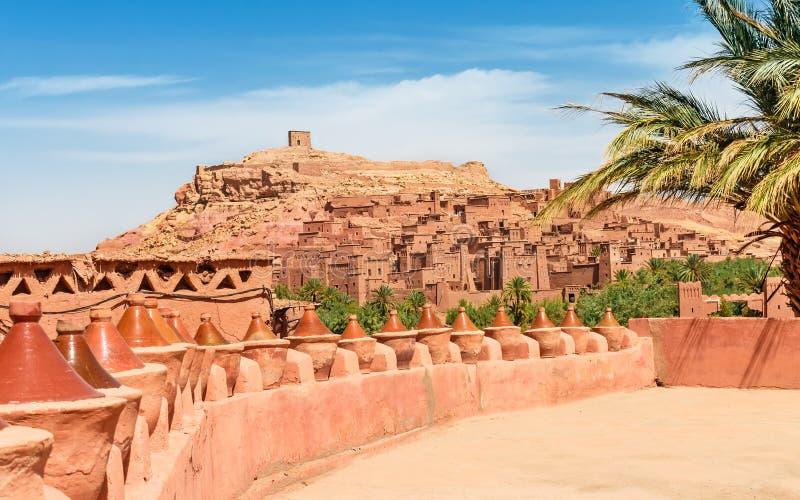 Kasbah Ait Ben Haddou in the Atlas Mountains of Morocco. UNESCO World Heritage. Kasbah Ait Ben Haddou in the Atlas Mountains of Morocco. UNESCO World Heritage royalty free stock photos