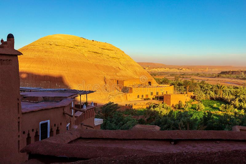 Kasbah Ait Ben Haddou in the Atlas Mountains of Morocco. UNESCO World Heritage Site since 1987. Several films have been shot there royalty free stock photography