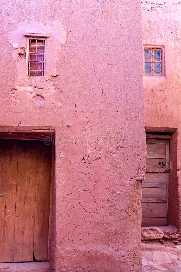 Kasbah Ait Ben Haddou in the Atlas Mountains of Morocco. UNESCO World Heritage Site since 1987. Several films have been shot there stock photos
