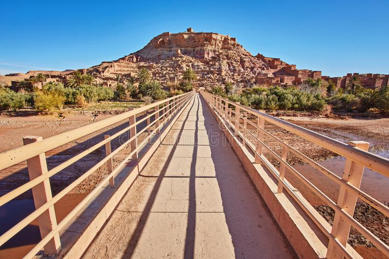 Kasbah Ait Ben Haddou in the Atlas Mountains of Morocco. UNESCO. World Heritage Site since 1987. Several films have been shot there stock photography