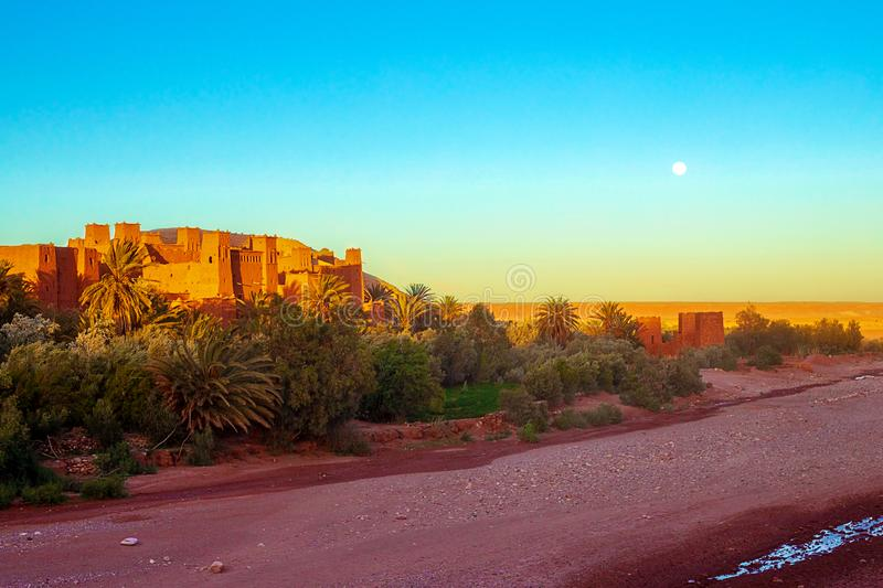 Kasbah Ait Ben Haddou in the Atlas Mountains of Morocco. UNESCO World Heritage Site since 1987. Several films have been shot there stock image