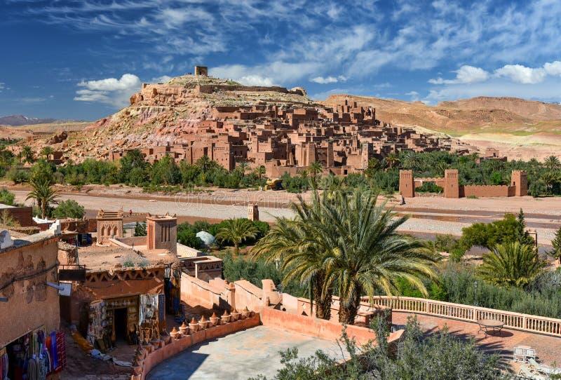 Kasbah Ait Ben Haddou, Marocco di Ksar immagini stock libere da diritti