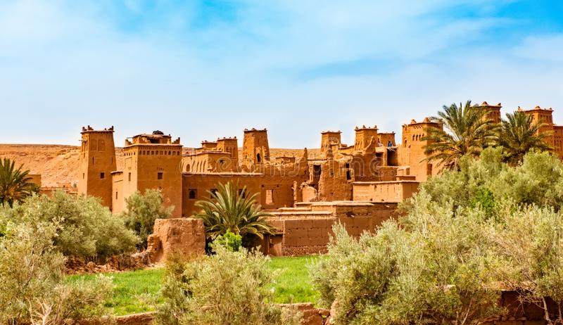 Kasbah Ait Ben Haddou near Ouarzazate Morocco. UNESCO World Heritage Site. Amazing view of Kasbah Ait Ben Haddou near Ouarzazate in the Atlas Mountains of royalty free stock photo