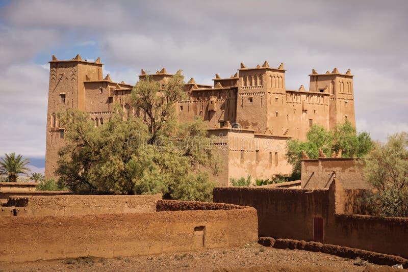 Kasbah Ait Ben Moro Skoura marokko stockbild
