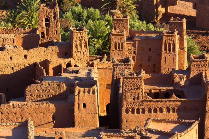 Kasbah Ait Benhaddou dell'argilla nel Marocco fotografia stock libera da diritti