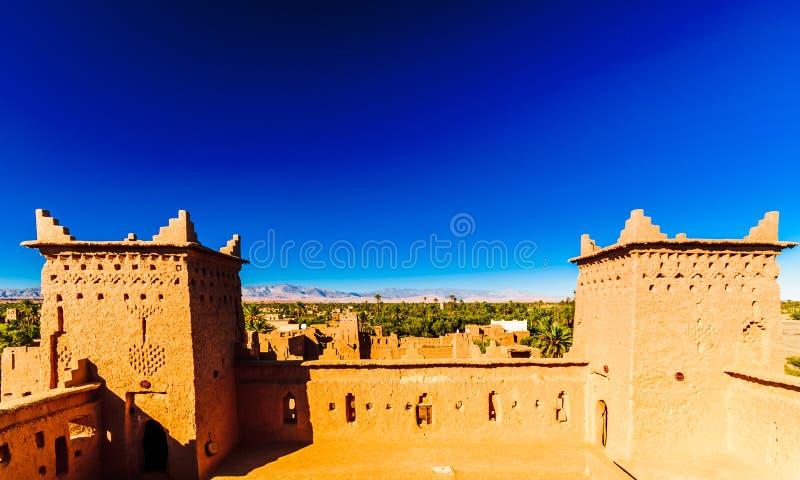 Kasbah Amridil dans l'oasis de Skoura au Maroc image libre de droits