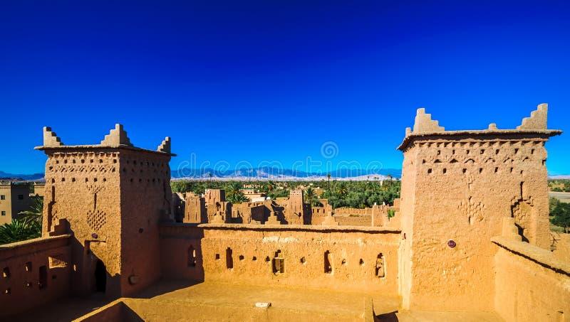 Kasbah Amridil in de oase van Skoura in Marokko royalty-vrije stock fotografie