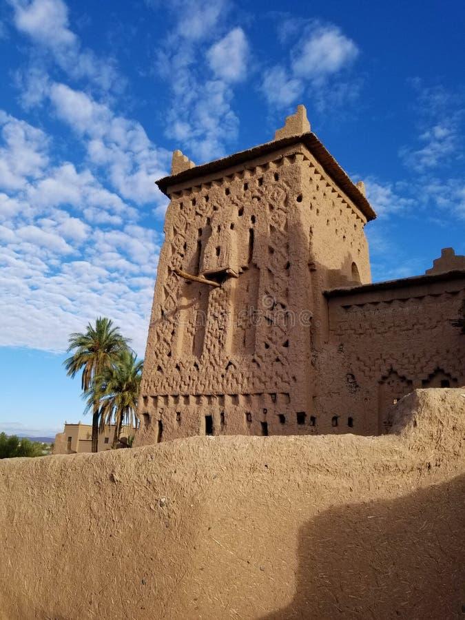 Kasbah Amridil in Skoura, Marokko stock afbeelding