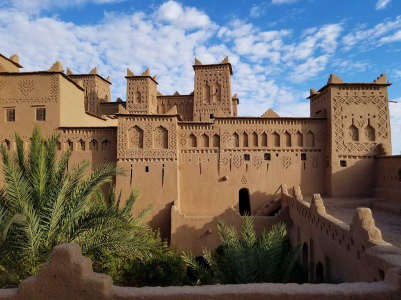 Kasbah Amridil in Skoura, Marokko royalty-vrije stock afbeelding