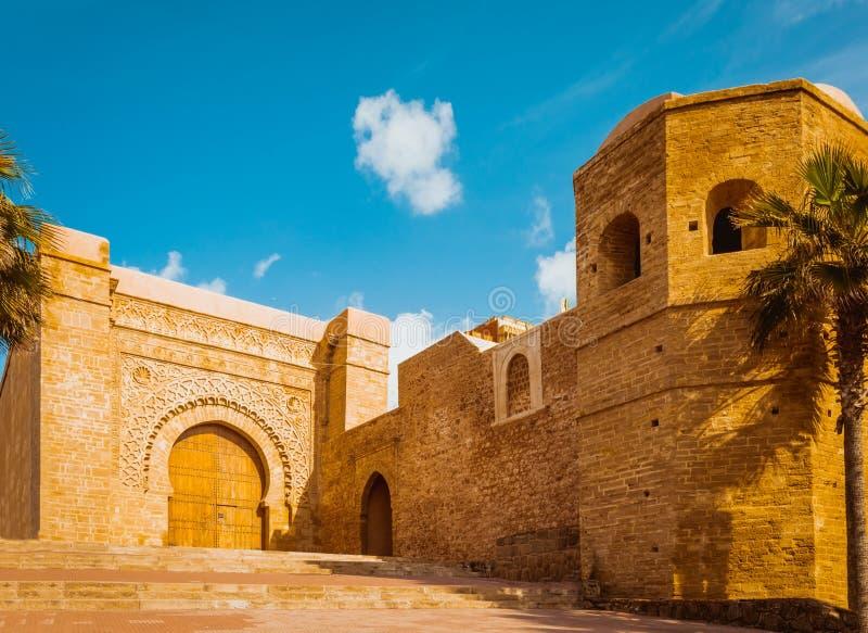 Kasbah da fortaleza de Udayas em Rabat Marrocos fotos de stock